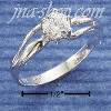 Sterling Silver 5MM ROUND CZ DOUBLE CURVE SHANK RING SIZES 5-10