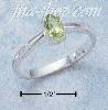 Sterling Silver 6X4 OVAL PERIDOT RING SIZES 4-10