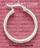 Sterling Silver 20MM TUBULAR HOOP WITH FRENCH LOCK EARRINGS