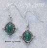 Sterling Silver OVAL MALACHITE EARRINGS ON FRENCH WIRES