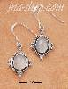 Sterling Silver OVAL MOONSTONE EARRINGS ON FRENCH WIRES