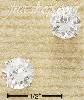 Sterling Silver 7MM ROUND CLEAR CZ POSTS