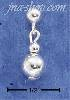 Sterling Silver 6MM BALL DROP POST EARRINGS