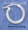 Sterling Silver LIGHTWEIGHT 14MM HOOPS WITH CURVED LOCK EARRINGS