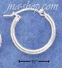 Sterling Silver LIGHTWEIGHT 18MM HOOPS WITH CURVED LOCK EARRINGS