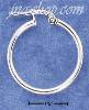 Sterling Silver LIGHTWEIGHT 23MM HOOPS WITH CURVED LOCK EARRINGS