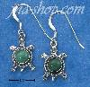 Sterling Silver MALACHITE TURTLES ON FRENCH WIRE EARRINGS