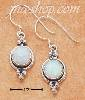 Sterling Silver ROUND SYNTHETIC OPAL CONCHO W/ THREE DOTS FRENCH