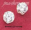 Sterling Silver 8MM ROUND CUBIC ZIRCONIA POST EARRINGS