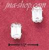 Sterling Silver 5X7 RECTANGULAR CUBIC ZIRCONIA POST EARRINGS