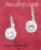 Sterling Silver 6MM ROUND CUBIC ZIRCONIA LEVERBACK EARRINGS