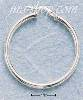 Sterling Silver 38MM TUBULAR HOOP WITH FRENCH LOCK EARRINGS (3MM