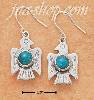 Sterling Silver ROUND TURQUOISE FRENCH WIRE THUNDERBIRD EARRINGS