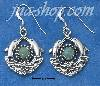 Sterling Silver DOUBLE DOLPHINS WITH TURQUOISE SUN AND WAVES FRE