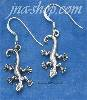 Sterling Silver GECKO ON THE MOVE FRENCH WIRE EARRINGS