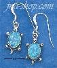 Sterling Silver ADORABLE SYNTHETIC BLUE OPAL TURTLES ON FRENCH W