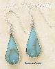 Sterling Silver MEDIUM PLAIN TURQUOISE PLAIN TEARDROP FRENCH WIR