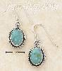 Sterling Silver ROUND TURQUOISE CONCHO ROPED EDGE DANGLE FW EARR