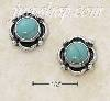 Sterling Silver SMALL ROUND TURQUOISE CONCHO POST EARRINGS