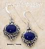 Sterling Silver OVAL LAPIS CAB IN ETCHED SETTING FW EARRINGS