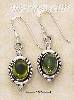 Sterling Silver OVAL PERIDOT HATCHED BORDER FW EARRINGS