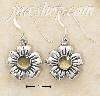 Sterling Silver FLOWER W/ CITRINE ON FRENCH WIRE EARRINGS