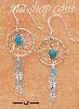 Sterling Silver SMALL TURQUOISE DREAMCATCHER EARRINGS