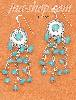 Sterling Silver FW CONCHO EARRINGS WITH TURQUOISE DOT & MULTI ST