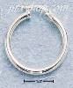 Sterling Silver 25MM TUBULAR HOOP WITH FRENCH LOCK EARRINGS (3MM