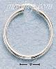 Sterling Silver 30MM TUBULAR HOOP WITH FRENCH LOCK EARRINGS (3MM