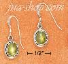 Sterling Silver 5X7MM OVAL PERIDOT WITH SIMPLE BORDER FRENCH WIR
