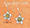 Sterling Silver 16MM POINTED PETAL FLOWER WITH 5MM ROUND PERIDOT