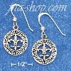 "Sterling Silver 5/8"" ROUND CELTIC WREATH EARRINGS W/ INSCRIBED F"
