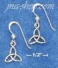 "Sterling Silver 5/8"" TRINITY KNOT EARRINGS AND BEAD W/ FRENCH WI"