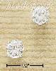 Sterling Silver 6MM ROUND CZ POST EARRINGS