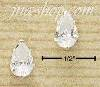 Sterling Silver 8MM TEARDROP CZ POST EARRINGS