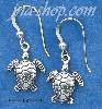Sterling Silver MINI TURTLE EARRINGS ON FRENCH WIRES
