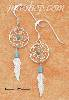 Sterling Silver TINY TURQUOISE DREAMCATCHER EARRINGS
