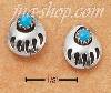 Sterling Silver BEAR CLAW W/ TURQUOISE POST EARRINGS