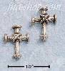Sterling Silver SMALL CROSS W/ CENTER ROPE POST EARRINGS