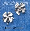 Sterling Silver FOUR LEAF CLOVER MINI-POST EARRINGS