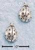 Sterling Silver LADYBUG POST EARRINGS