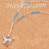 "Sterling Silver 18"" LIQUID SILVER NECKLACE W/ TURQUOISE & RUNNIN"