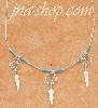 "Sterling Silver 18"" LIQUID SILVER NECKLACE W/ TURQUOISE & TRIPLE"