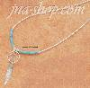 "Sterling Silver 20"" TINY TURQUOISE DREAMCATCHER NECKLACE"
