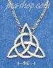"Sterling Silver 18"" ANTIQUED TRIANGLE CELTIC CABLE CHAIN NECKLAC"