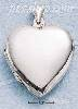 Sterling Silver LARGE FLAT HP HEART LOCKET