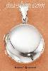 Sterling Silver ROUND HIGH POLISH PUFFY LOCKET