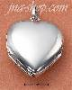 "Sterling Silver MEDIUM FOUR WAY HIGH POLISH HEART LOCKET (~1"")"