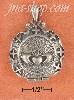 Sterling Silver ANTIQ CLADDAGH LOCKET W/CROSS BORDER & FILIGREE